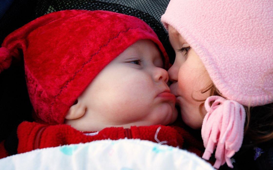 Cute kiss wallpaper