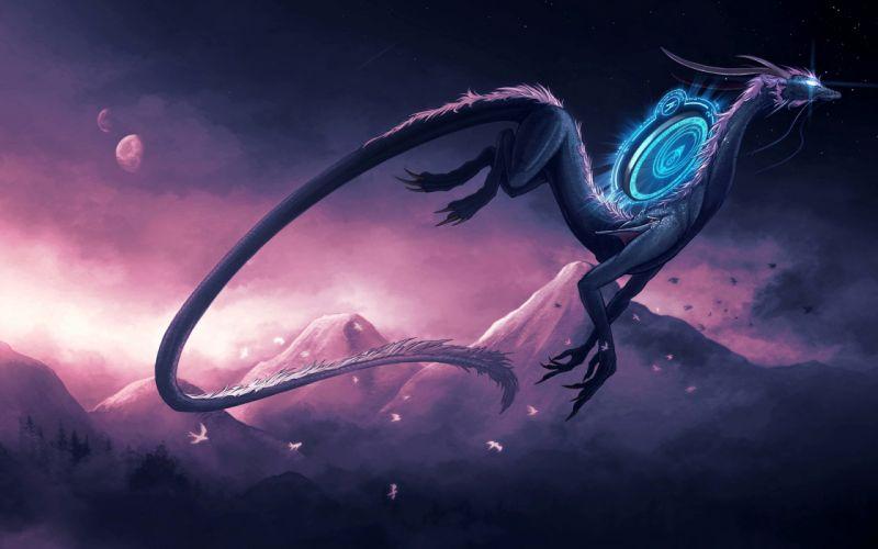Furious dragon wallpaper
