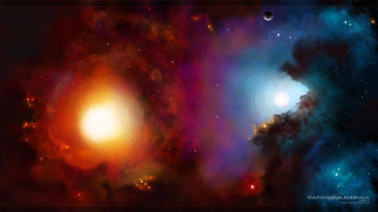 Abstract outer space galaxies wallpaper