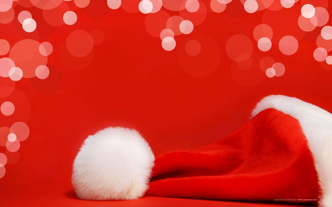 Santa claus hat wallpaper