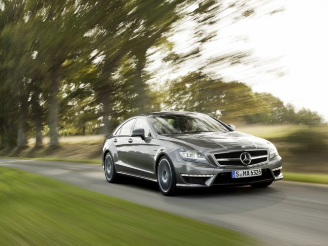 Cls 63 amg front angle wallpaper