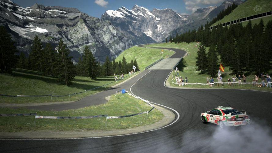 Mountains race wallpaper