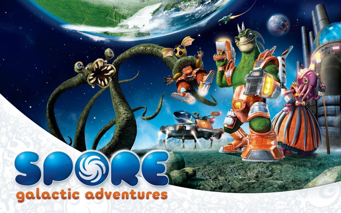 Spore galactic adventures game wallpaper