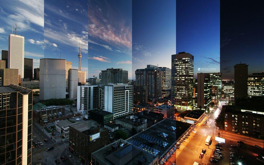 Toronto reflections canada wallpaper