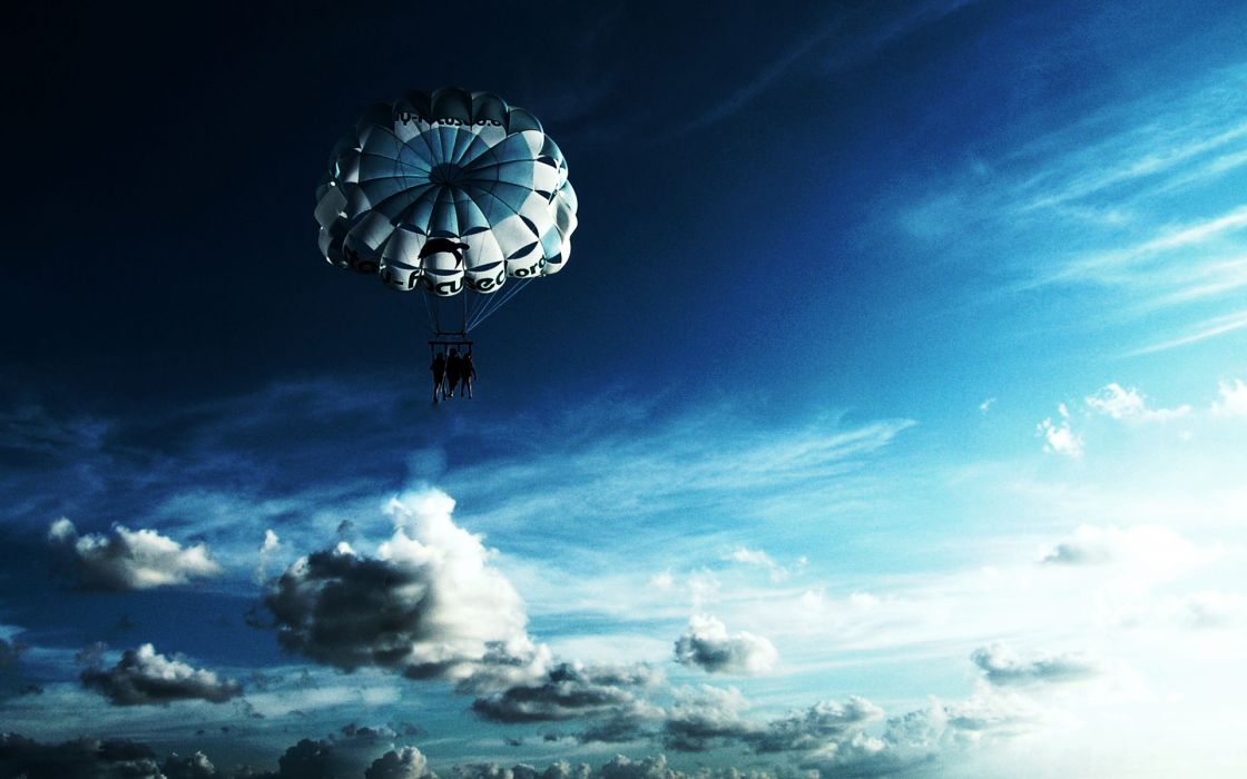 Sky parachuting wallpaper