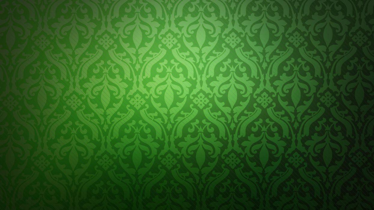 Green minimalistic pattern wallpaper