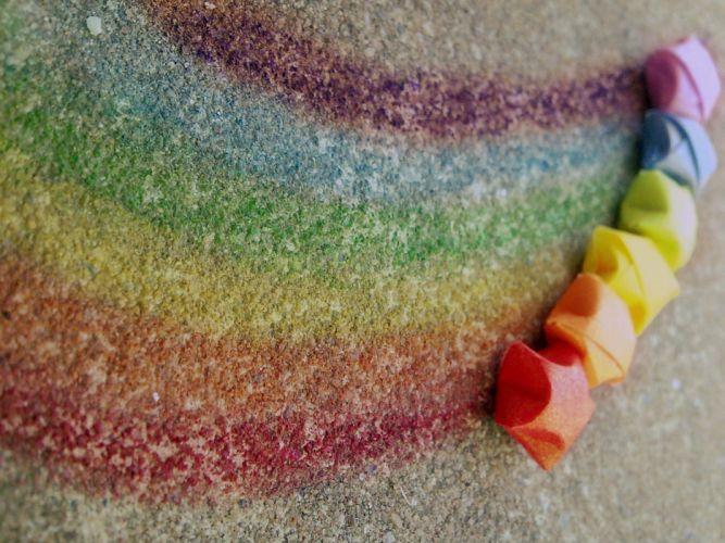Drawing the rainbow wallpaper