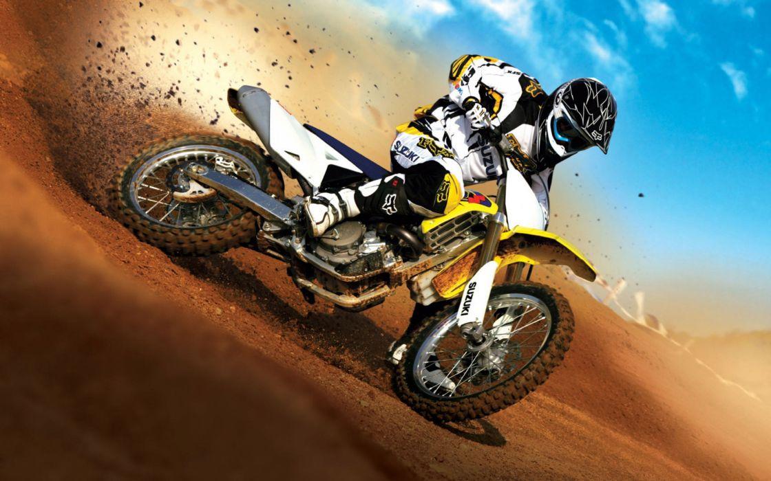 Suzuki cross bike wallpaper