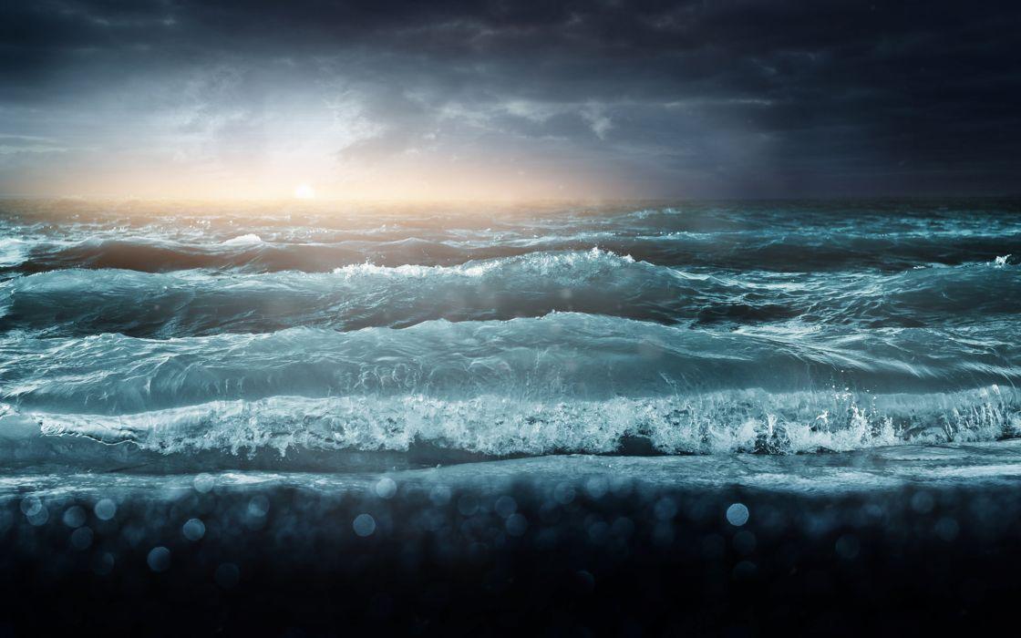 Stormy lake wallpaper