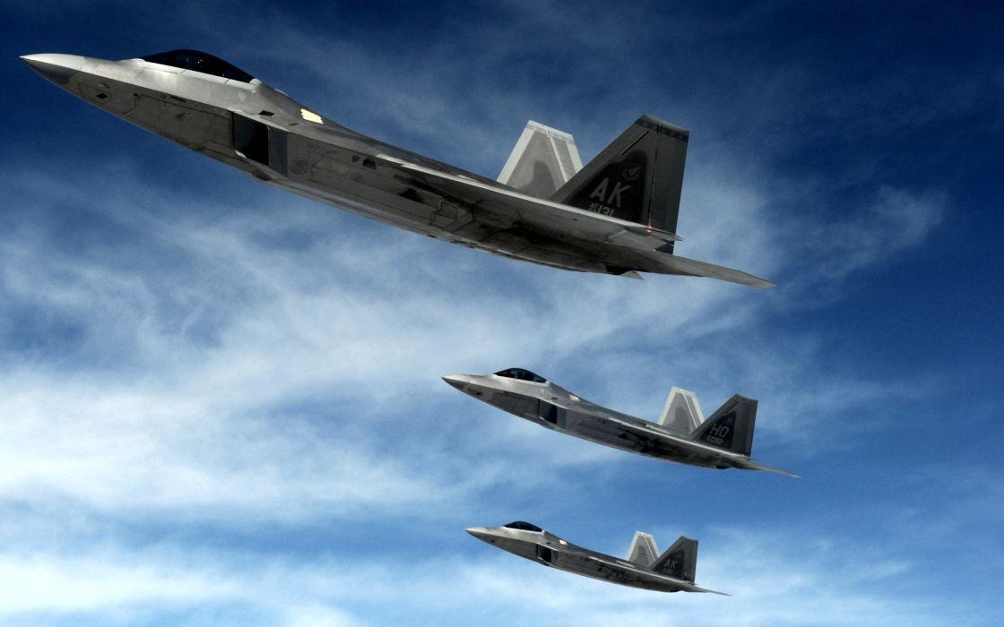 F 22 raptors stealth fighters wallpaper