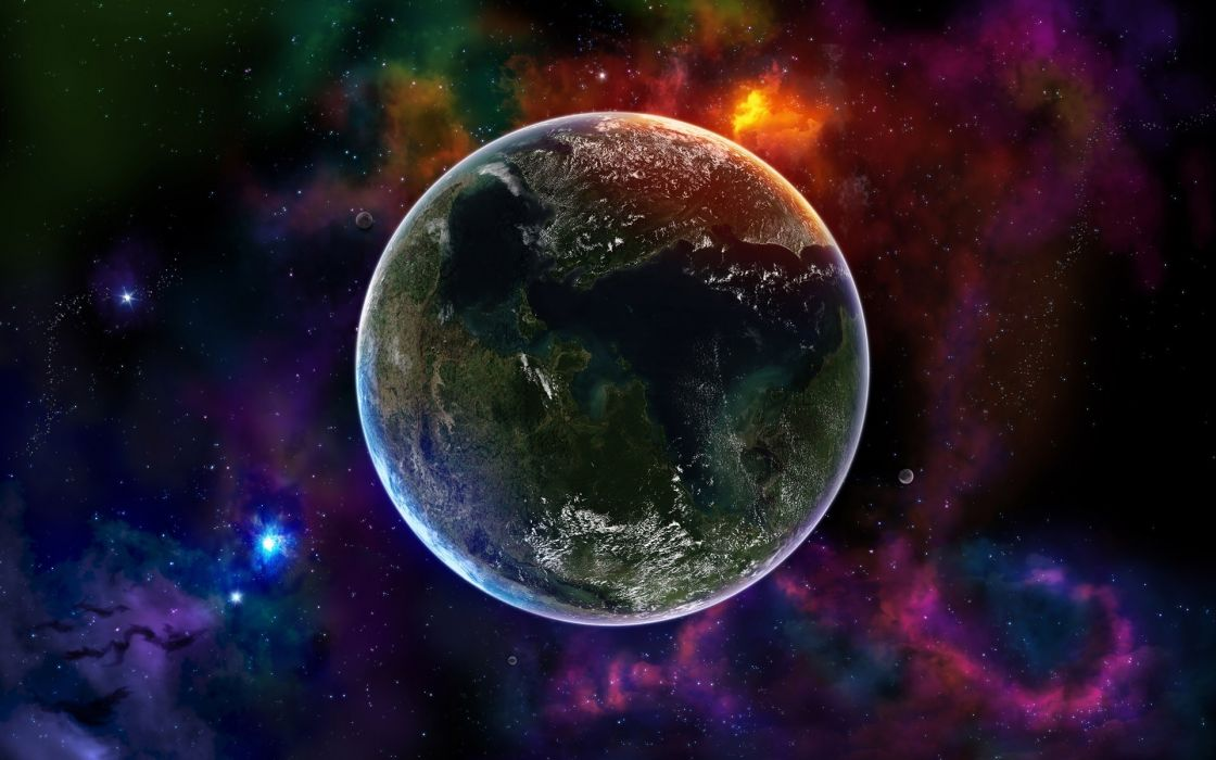 Colorful space  universe wallpaper
