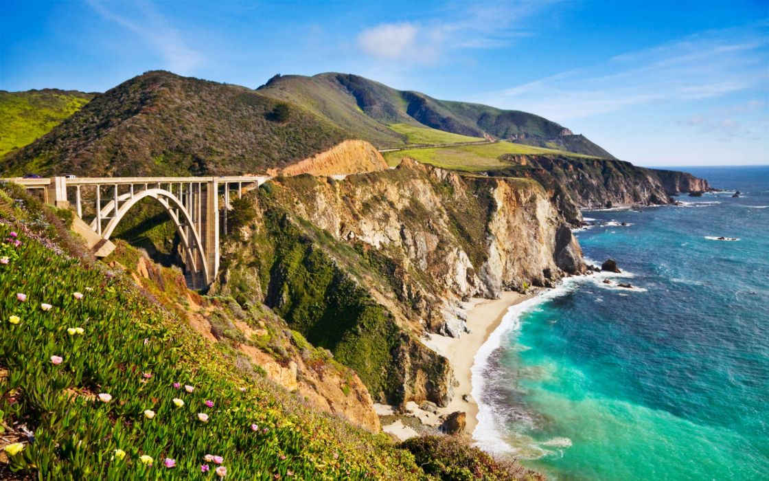 Bixby bridge in big sur california wallpaper