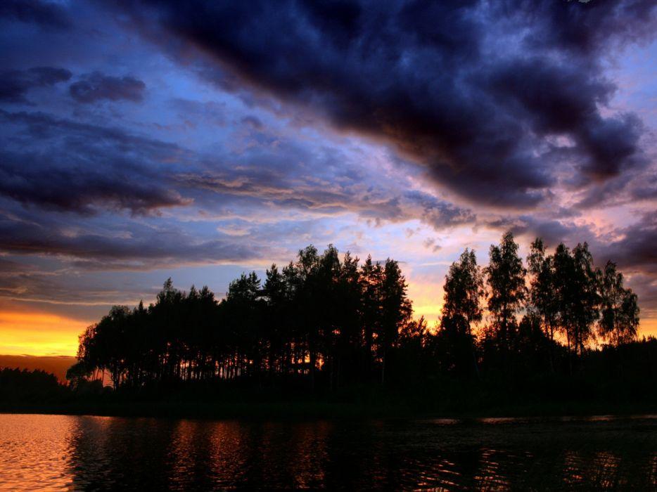 Superb sunset wallpaper