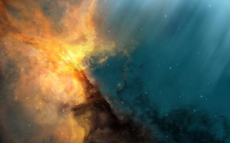Solar space wallpaper