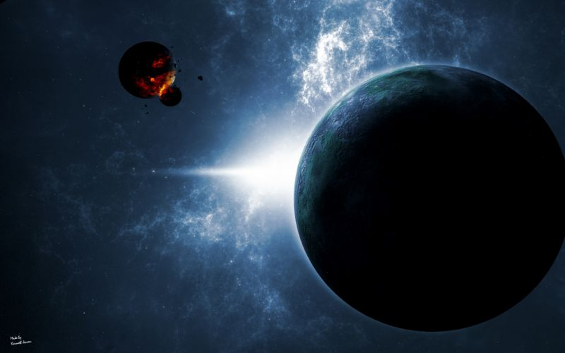 Planets in space wallpaper