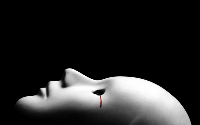 Blood tear mask wallpaper