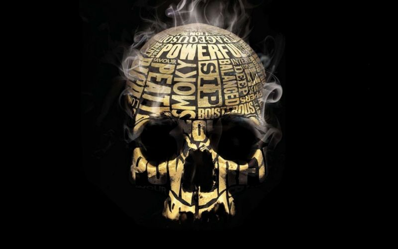 Skull smoker wallpaper