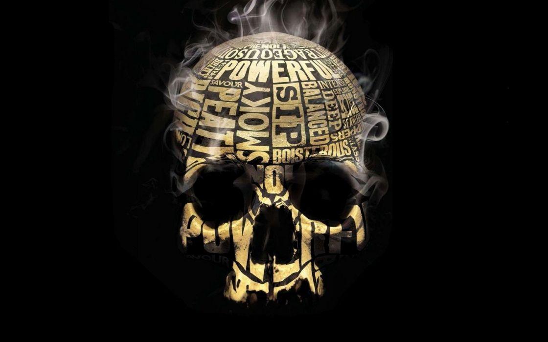 Skull smoker wallpaper