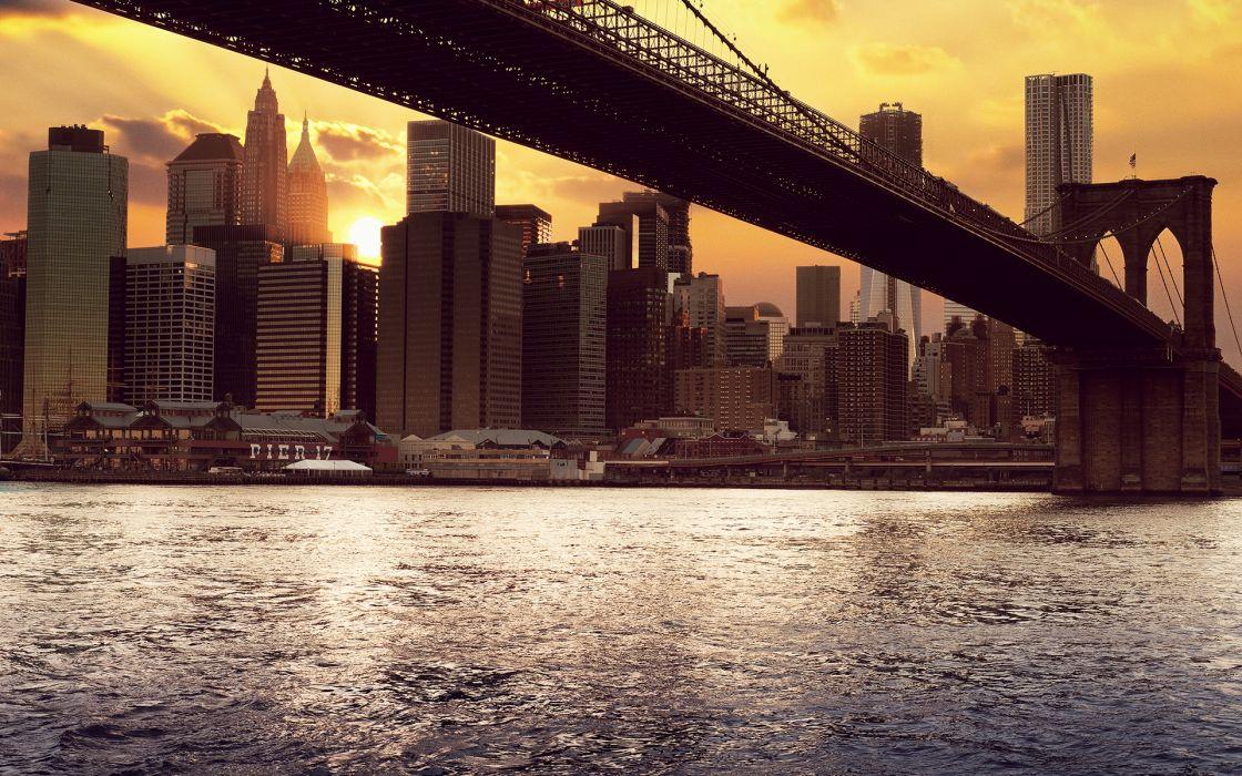 New york under bridge wallpaper
