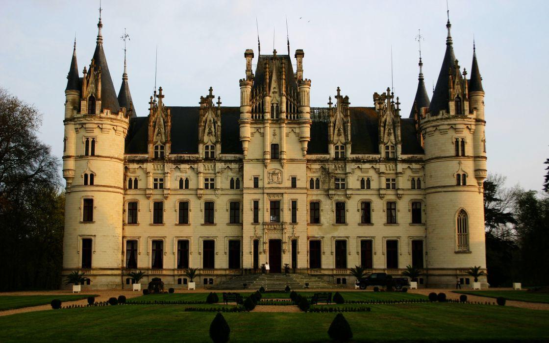 Castle chateau de challain wallpaper