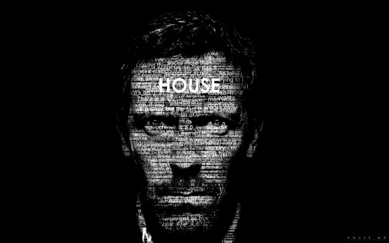 Doctor house typography wallpaper