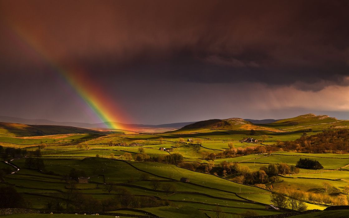 Rainbow landscape wallpaper