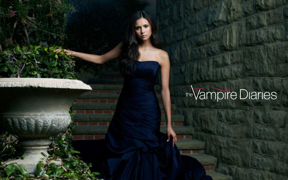 Nina dobrev elegant dress wallpaper