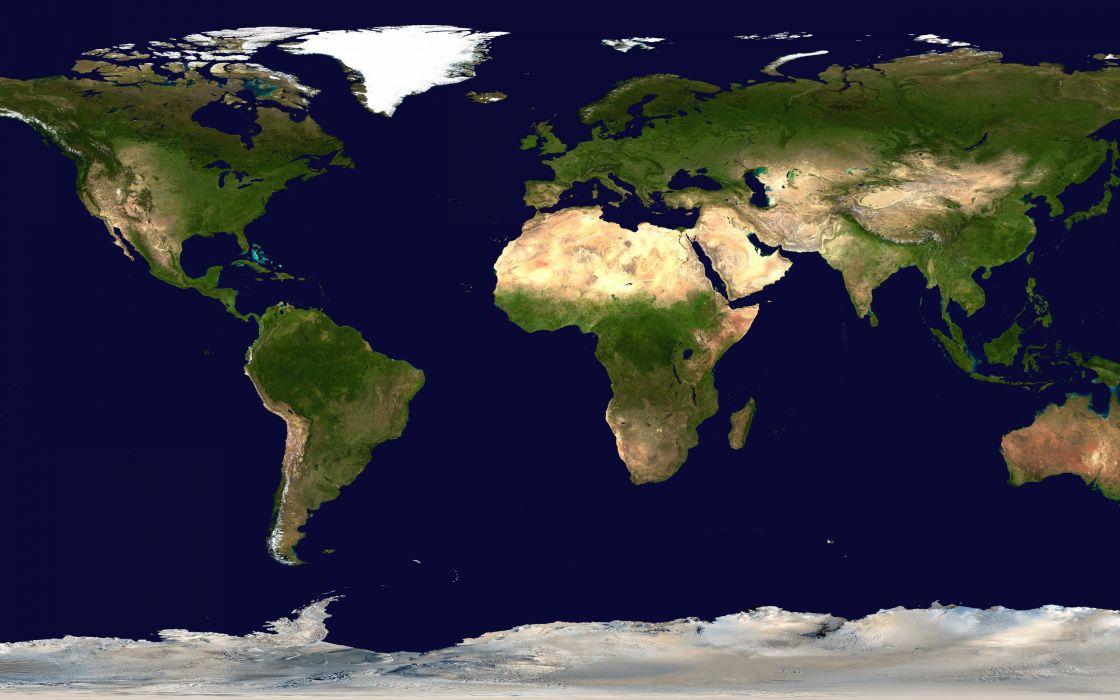 Clean world map wallpaper