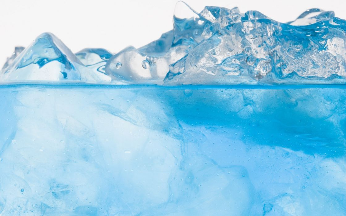 Blue crystal ice wallpaper
