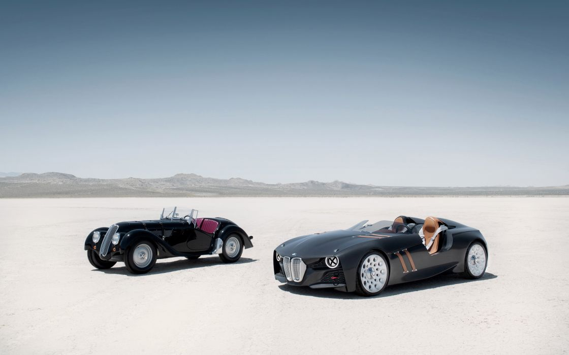 Bmw 328 hommage old and new wallpaper