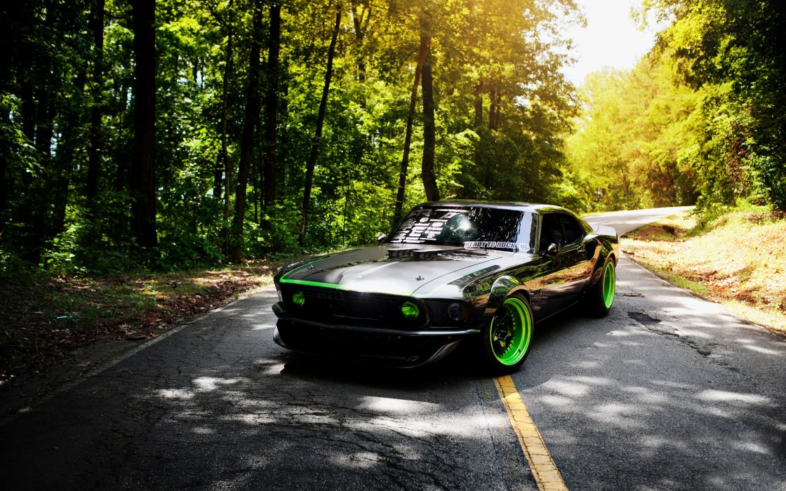 Old ford mustang tuning wallpaper