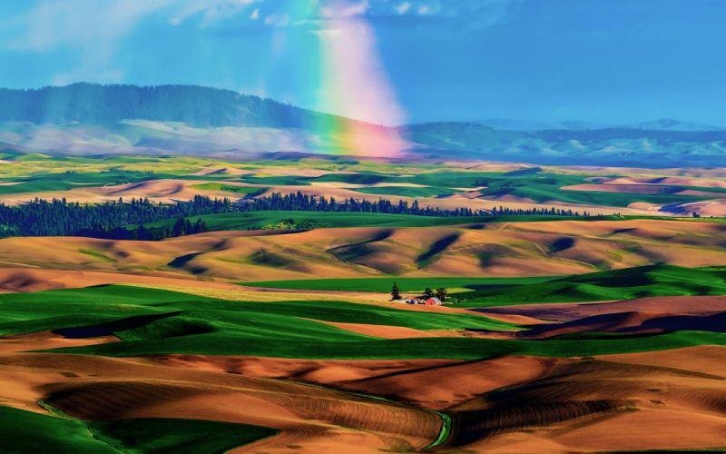 Hdr rainbow landscape wallpaper