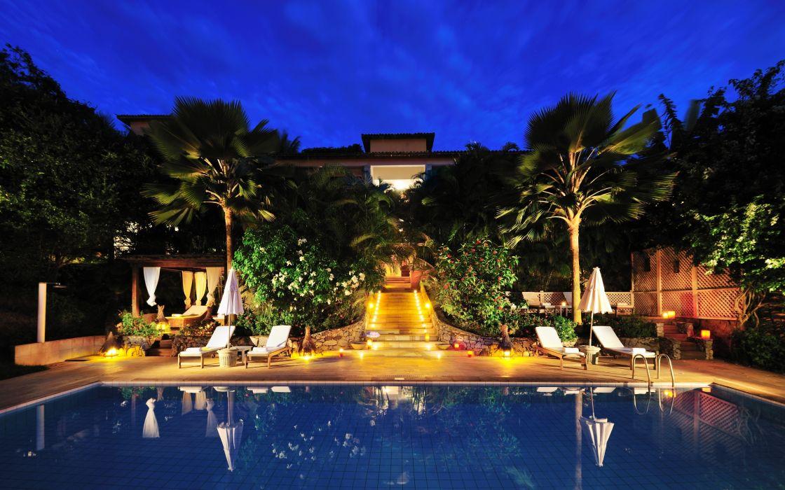 Amazing resort pool wallpaper