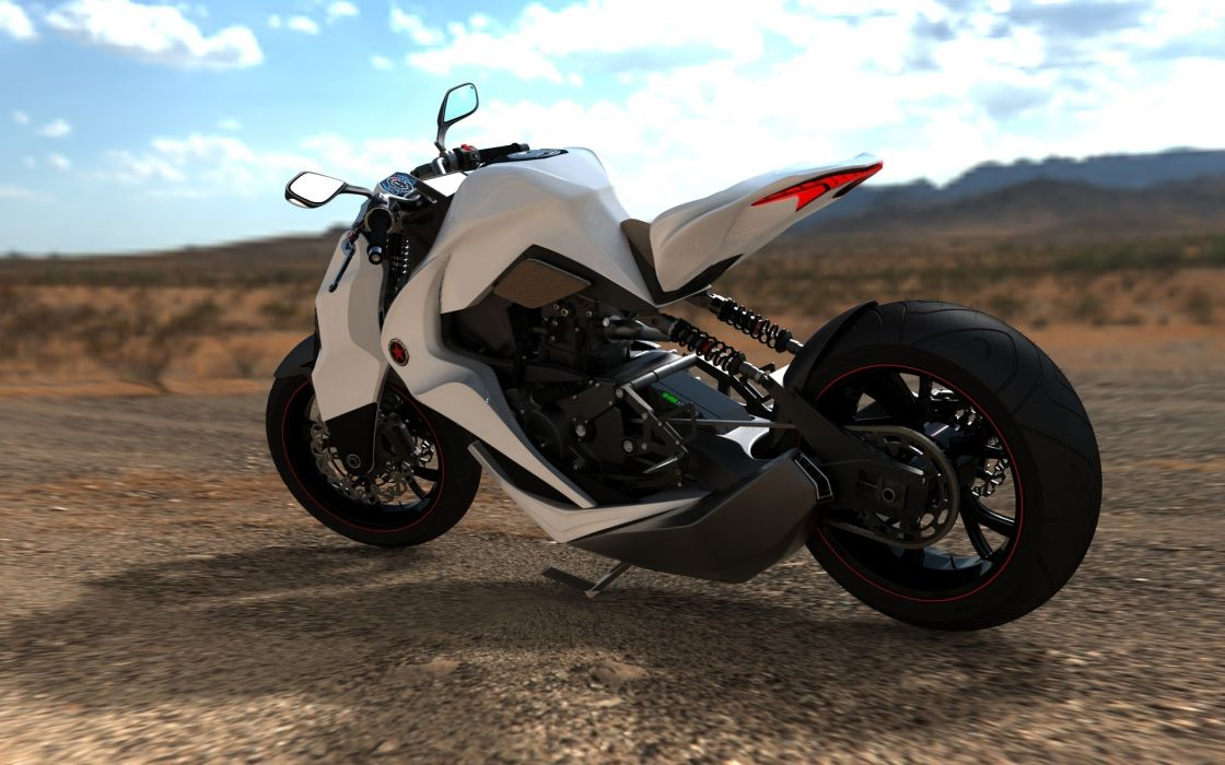2012 Hybrid motorcycle concept wallpaper