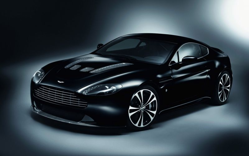 Aston martin v12 vantage carbon black wallpaper