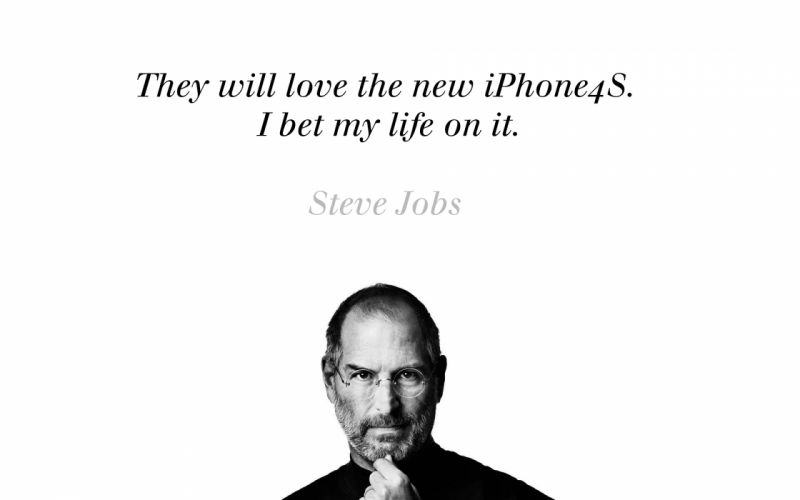 Steve jobs about iphone 4s wallpaper