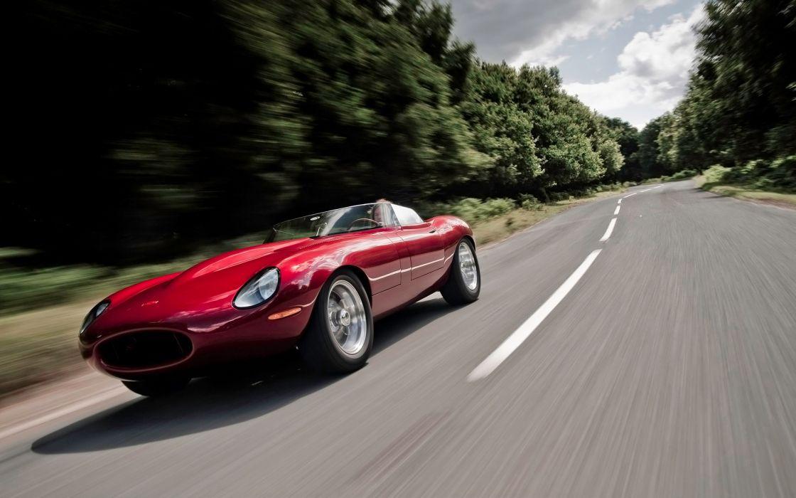 Jaguar e type speedster speed wallpaper