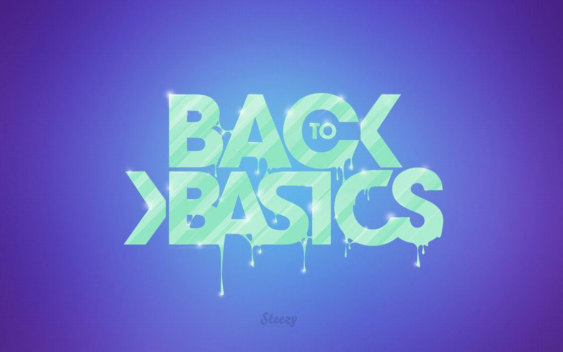 Back to back basics wallpaper
