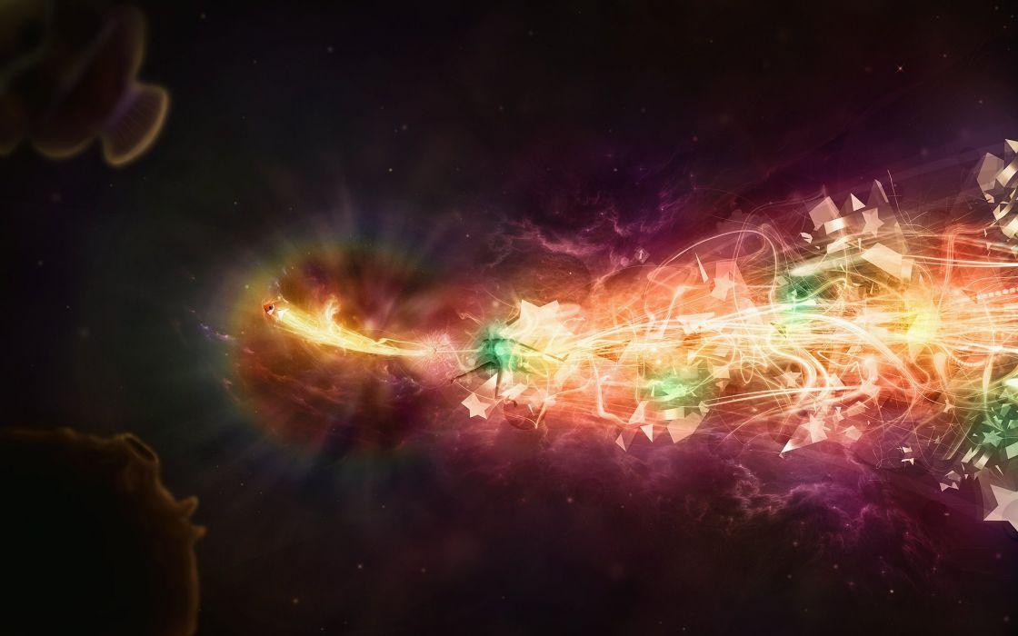 Beautiful space colors wallpaper