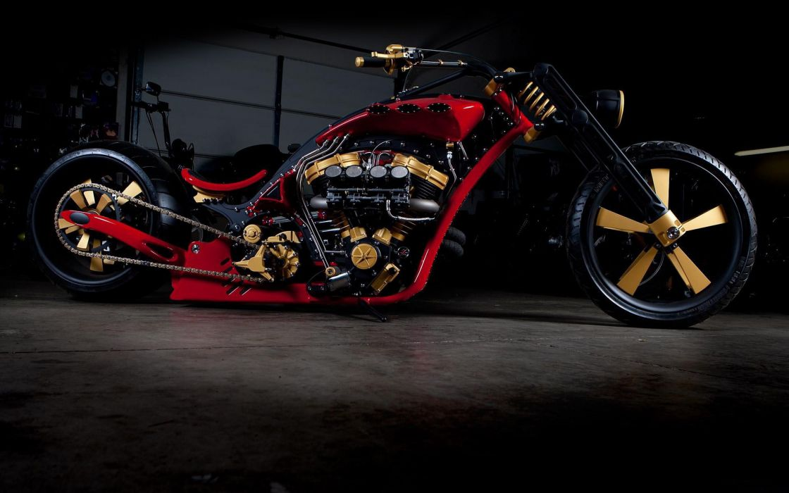 Custom motorcycle chopper wallpaper
