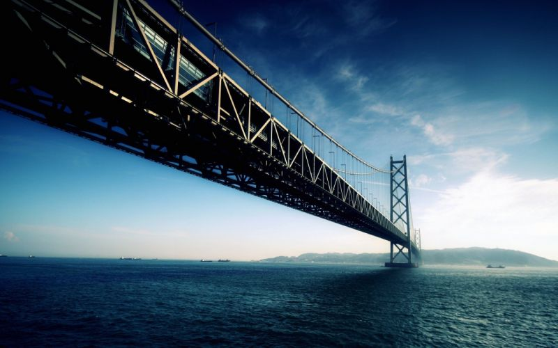 Akashi kaikyo bridge japan wallpaper