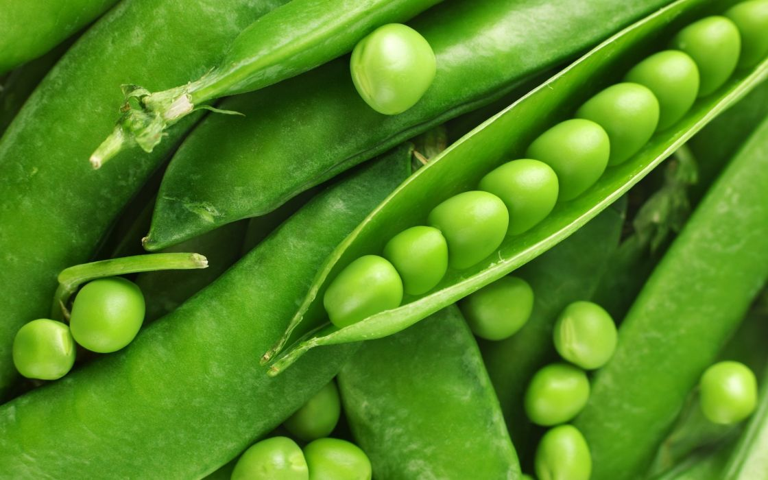 Fresh green peas wallpaper