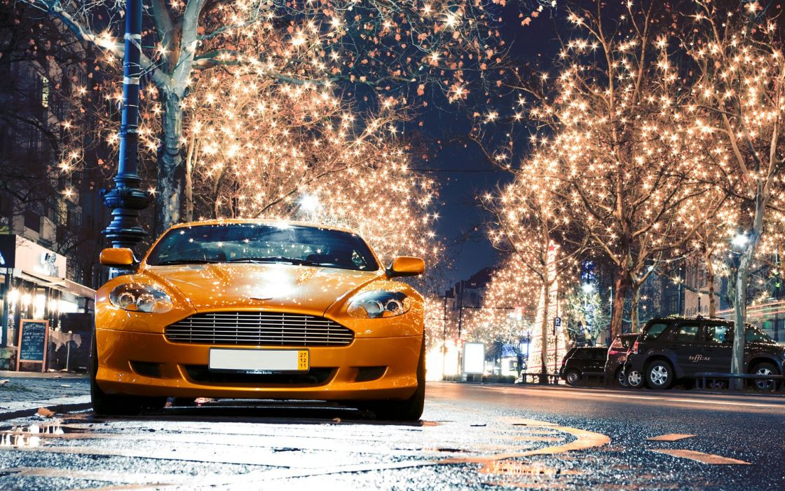 Aston martin orange wallpaper