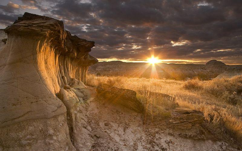 Landscape sunset wallpaper