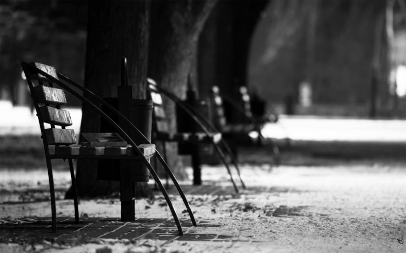Street chairs wallpaper
