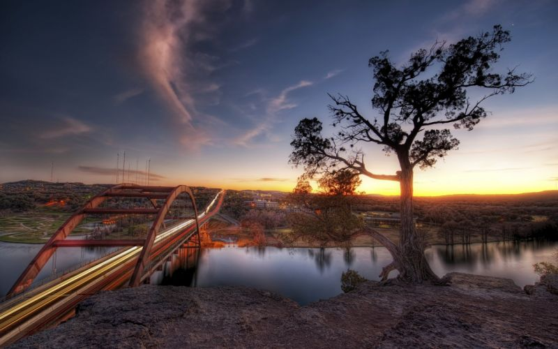 Austin sunset wallpaper