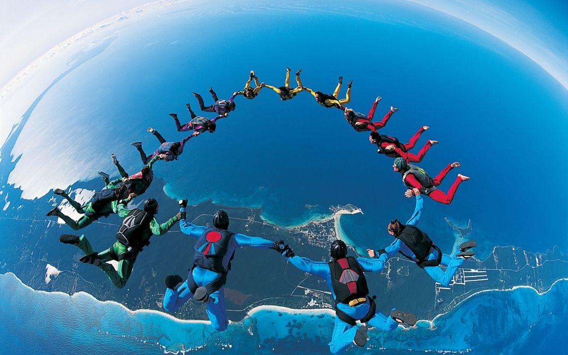 Base jumping wallpaper