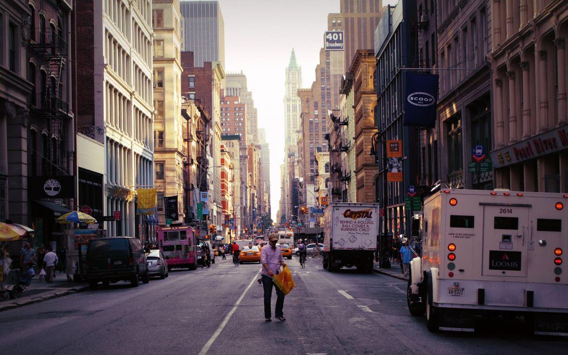 New york city streets wallpaper