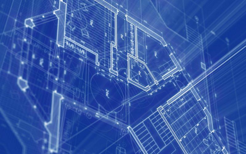 Blueprint architecture wallpaper