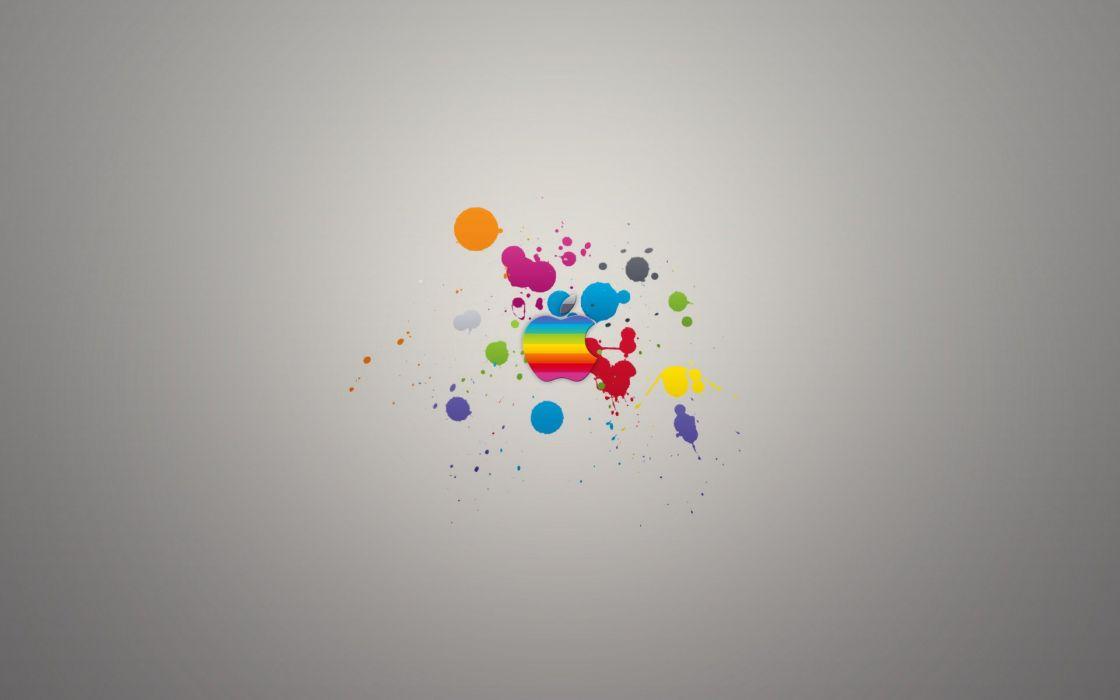 Apple logo color splash wallpaper